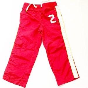 5/$25 Old Navy Kids track running red pants 4T